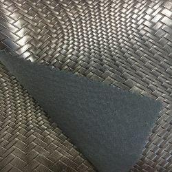 Tissé ondulées artificielle du grain de cuir synthétique pour les sacs, chaussures, de la Décoration (HS-D07)