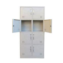 Armadio d'acciaio del metallo del guardaroba/8 portelli dell'armadio di trasporto libero
