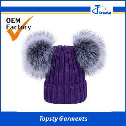 Kundenspezifischer starker und schwerer Winter-Hut, Wolle-Winter-Hut der Qualitäts-100%