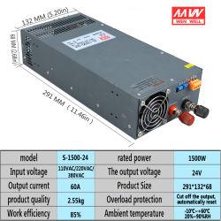 S-1500-24V регулируемый высокого напряжения постоянного тока светодиодный индикатор включения питания 1500 Вт переменного тока в постоянный ток 24V 62A