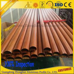 Best verkopende Houten Grain Flat Tube Aluminium Section met Aluminium Onderdelen