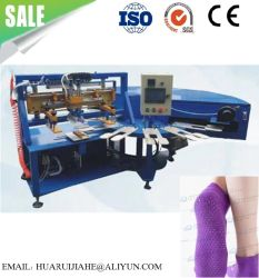 Exercer as meias, meias de Dança Fitness Non-Slip Silicone Pontos de meia tela monocromática Impressora Meias Máquina de fracionamento de máquina de plástico