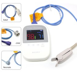 CE oxymètre de pouls portatif pour adulte/nouveau-né avec le doigt sonde du capteur de SpO2 moniteur de SpO2 moniteur de SpO2 d'impulsion avec alarme pour les soins à domicile