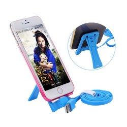 1.2M Creative paresseux à plat la foudre 8 broches câble de données multifonction titulaire câble du chargeur de téléphone mobile pour Apple iPhone iPad