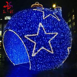 Piscina impermeável IP65 Decoração de Natal 3D iluminado cava-de-Gigante Street Ball Luzes Motif