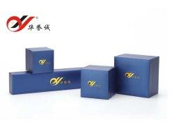 En similicuir bleu Bijoux papier Emballage pour les bijoux de luxe
