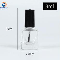 8 ml de gros de la conception personnalisée Portable Vente chaude Square vernis à ongles en verre bouteille d'huile bouteille d'utilisation des cosmétiques