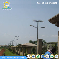Bras double 30W-100W Rue solaire phares avec lampe à LED
