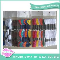 Los bordados de alta calidad de Cruz colorido hilo de algodón de coser