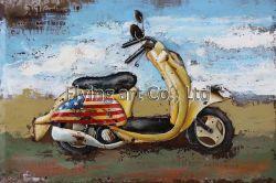 [3د] معدنة صورة زيتيّة جدار فنية لأنّ دراجة كهربائيّة