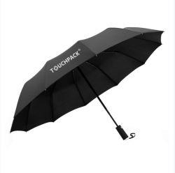 prix d'usine logo personnalisé de qualité supérieure Auto Open Close parapluie 3 fois