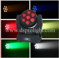 Освещения сцены 7ПК 10W RGBW LED Wash перемещение головки фары дальнего света
