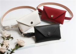 Design de moda europeia PU Leather Senhoras saco de dinheiro no cinto