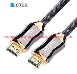 كبل HDMI يدعم موصلات الذهب 2.0 فولت بدقة 1080p بمعدل 2160p بدقة 4K بدقة 2K