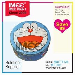 Imee Muster-Entwurfs-kundenspezifische Drucken-Karikatur-Tee-süsse Süßigkeit-Kuchen-Imbiss-Aluminiumzinn-Behälter
