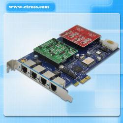 PCI 플러그를 가진 Aex 410 에스테리스크 카드