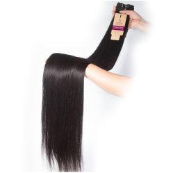 il tessuto diritto dei capelli umani dei capelli peruviani del Virgin 10A impacchetta le estensioni naturali all'ingrosso dei capelli umani di Remy di colore 100