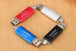 고품질 장방형 OTG USB 엄지 드라이브 3.0 2.0 USB 섬광 드라이브 8GB 16GB 32GB 64GB OTG Pendrive