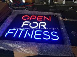 Kundenspezifisches Acrylneonlicht, das LED-Neonzeichen bekanntmacht