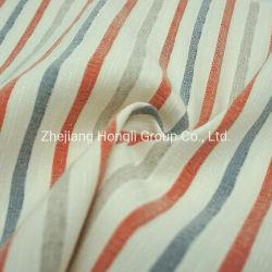 210gsm banda Faille poliéster 66%23%5%Rayón de Nylon 3%3%de hilo de lino de Spandex tejido teñido