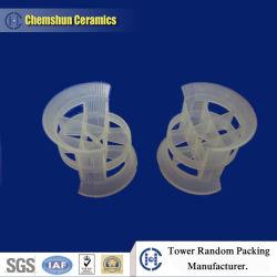 Anel conjugada de plástico como embalagem aleatórios para extração de líquidos e Tratamento de Água