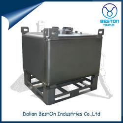 Heavy Duty Personalizar 1000 L líquido ISO Chemical Metal empilhável em aço inoxidável Depósito de aço de atacado intermediário IBC