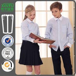 L'uniforme scolastico su ordinazione convenzionale casuale della camicia del banco per gli allievi della scuola secondaria può prenotare i pantaloni ed i pannelli esterni fatti in Cina