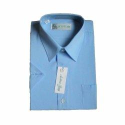 Uniforme escolar del niño S/S Camiseta de collar (ZF012)