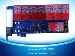16 FXO/FXS PCI-Eの星じるしカードサポート星じるし/Trixbox /Elastix