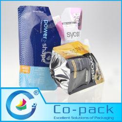Stand up pochette de la tuyère de savon liquide/ de détergent à lessive à l'emballage