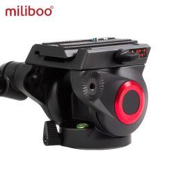Taça Miliboo 65mm tamanho da cabeça do fluido profissional para placas de Liberação Rápida Tripé Monopod Myt801 360 Dgrees DSLR de vídeo de alumínio