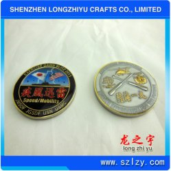 Médaille or souvenirs Silve cuivre Coin, Custom Défi Coin Badges avec peinture époxy, USA drapeau rempli de médaillons, placage Double Eagle de la glace Marine Corps broche Coin