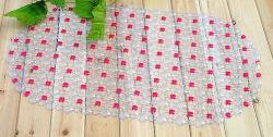 Tapete de banho de têxteis de flores em relevo