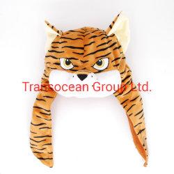 Tigre de peluche cabeza de animal Hat tigre de peluche suave de la tapa lindo sombrero de pieles de animales con largas patas