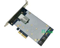2ポートSATA 3.0 6gbps SSD + 4 X Car 2 Ngff (m. 2) SSD Port PCI Express RAID0、RAID1、RAID10およびHyperduo Card