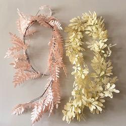 Wedding dekorative weiße Farben-Rebe Ratta hängende Girlande-Seide blüht Glyzinie-künstliche Blume