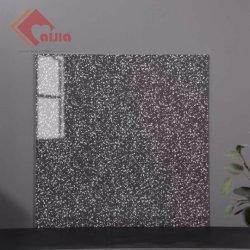 Ficha preta de porcelana de azulejos do piso 600x600mm Custom Cerâmica Grosso pedra mármore telhas