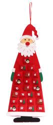 Red Promotional DIY Decoration Gifts Felt Santa Claus Christmas Tree Kalender