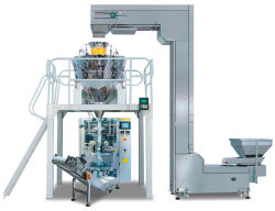 Candy alimentos automática con un peso y la máquina de embalaje (HT-PF)