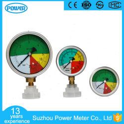 اتصل بمقياس ضغط الأنبوب الخاص مقاس 63 مم 100 مم من النوع متساوي القياس
