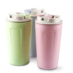 De draagbare Plastic Mok van de Vezel pp van het Bamboe van Eco van de Kop van het Water van de Koffie Vriendschappelijke Biologisch afbreekbare