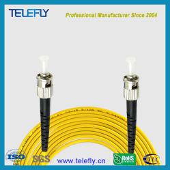 Bas prix de haute qualité à faible perte d'insertion Simplex monomode ST/PC-ST/PC 3.0mm 3m en fibre optique cavalier optique/|/optique cordon de raccordement à fibre optique