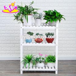 Vente en gros trois couches de bois d'étagère de coin pour les fleurs W08H106b