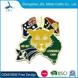 Personal Design vieux fer militaire d'attribution Coin coin défi de la Marine de trolley de blocage Hot Sale or émail longue aiguille Badge (534)