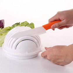 O plástico de cozinha todos em uma tigela de Cortador de salada
