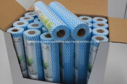 China-Fabrik-heißer Verkäufe Spunlace Haushalts-Reinigungs-Wischer-Vliesstoff