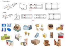 Bolo alimentar papel automático Pizza 4 6 cantos da tampa da placa de saco caixa Pasta Copa Palha Gluer/ Colagem Colagem dobra formando fazendo a máquina