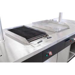 Friteuse électrique de luxe commerciaux avec le Cabinet de l'équipement/de gros hôtel de luxe en roche de lave barbecue électrique