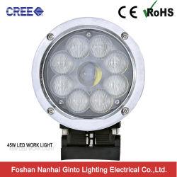 Chrome 45W раунда 10-30V КРИ светодиодный фонарь рабочего освещения для сельского хозяйства погрузчика на тракторе (GT6401-45W)