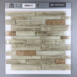 Hölzerner Tintenstrahl-Glasmosaik und helles Emperador-Granit-Mosaik